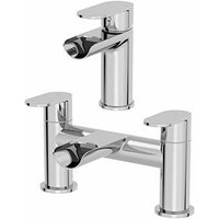 Edsberg Basin Mixer Waterfall Tap and Bath Mixer Tap Set - Architeckt