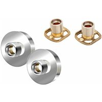Architeckt Shower Bar Valve Easy Wall Fixing Kit Square/Round Solid Brass