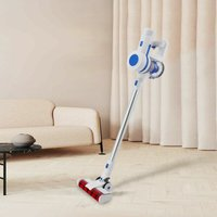 Premium Handheld Battery 2 in 1 Vacuum Cleaner Bagless Cordless White - Arebos