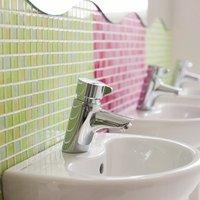 Avon 21 Push Button Self Closing Basin Mixer Tap - Chrome - Armitage Shanks