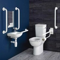 Contour 21 Ambulant Care Doc M Pack with CC Disabled Toilet and Basin - Armitage Shanks