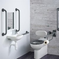 Contour 21 Doc M Pack with BTW Toilet and Grey Rails - Left Handed - Armitage Shanks