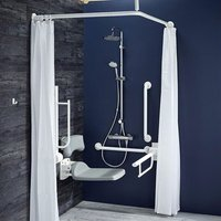 Armitage Shanks Contour 21 Doc M Pack with TMV3 Exposed Shower Valve and Dual Shower Kit - White Rails