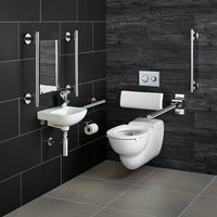 Contour 21 Doc M Wall Hung Pack with Chrome Rails Left Handed - Armitage Shanks