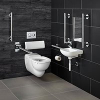Contour 21 Doc M Wall Hung Pack with Chrome Rails Right Handed - Armitage Shanks
