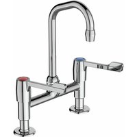 Markwik Dual Control Anti Splash Basin Sink Mixer Tap - Chrome - Armitage Shanks