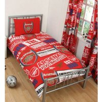 Childrens/Kids Patch Duvet Set (Single) (Red) - Arsenal Fc