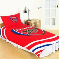 Reversible Pulse Duvet Set (Single) (Multicoloured) - Arsenal Fc