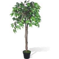 vidaXL Artificial Plant Ficus Tree with Pot 110 cm - Green