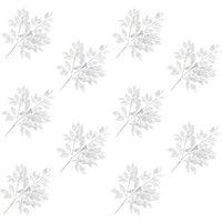 Artificial Leaves Ficus 10 pcs Silver 65 cm - Silver