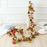 Artificial pivony rattan decorative flowers rattan in the attic of the host family, air conditioning water hose wrapping a small flower pink vine (3