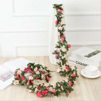 Artificial pivony rattan wholesale rattan of decorative flowers in the attic of the host family, air conditioning hose rolling small flower pink vine