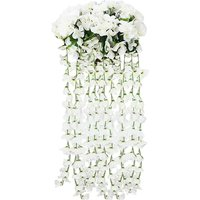 Artificial violet wall hanging flower rattan window sill balcony hanging decoration artificial flower decoration 2PCS hanging flower artificial