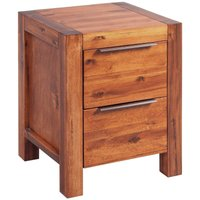 Arwen 2 Drawer Bedside Table by Brown - Union Rustic