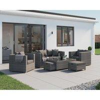 Rattan Direct - Ascot 2 Seater Rattan Garden Sofa Set in Grey