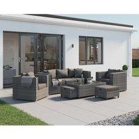 Rattan Direct - Ascot 3 Seater Rattan Garden Sofa Set in Grey