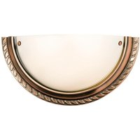 Endon - 1 Light Indoor Wall Uplighter Antique Copper with Acid Glass, E14 - ENDON LIGHTING