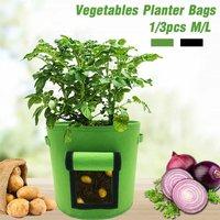 Audew 1 / 3PCS 26 / 38L Potato Taro Radish Grow Planter Bags Vegetable Planting Bag Felt Cloth Tomato Plant Bag Garden Indoor Outdoor Planting