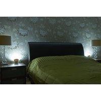 Auraglow Plugin GU10 Spotlight Uplighter Wall Wash Light Plug Socket Lamp with Cool White LED Bulb