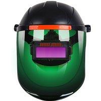 Auto-darkening welder welding mask, head-mounted anti-glare protective mask, green