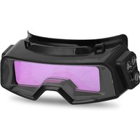 Auto Darkening Welding Goggles for TIG MIG MMA Professional Weld Glasses Goggles Multifunction Utility Tool,model:Black