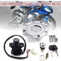 Automotive Motorcycle Ignition Switch Lock Fuel Gas Cap Key For Yamaha MT03 YZF XJ6 FZ09 FZ8 R6 R1 1998-05