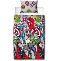 Emblem Duvet Cover Set (Single) (Multicoloured) - Avengers