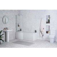Avola Bathroom Suite with Left Hand P Shape Shower Bath