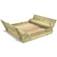 WICKEY bac à sable Flippey 150x165x30 cm avec couvercle àcharnière