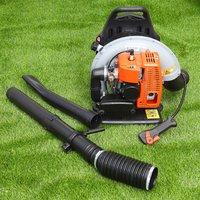 Petrol Backpack Leaf Blower 65cc 2-stroke 210MPH Powerful Garden Landscape - LIVINGANDHOME