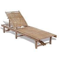 Chaise longue Bambou - VIDAXL