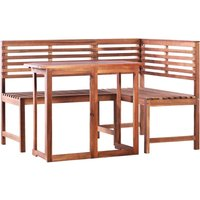 2 Piece Bistro Set Solid Acacia Wood - Brown - Vidaxl
