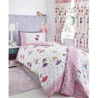 Bedmaker - Ballerina Dancer Double Duvet Cover Set Pink Girls Bedroom Bedding
