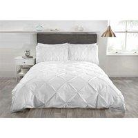 Rapport - Balmoral Luxury Single Duvet Set 1 Pillowcase White Pintuck Trim