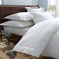 Balmoral White Single Duvet Cover Set Bedding Quilt Bed Set