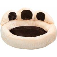 Dog bed Balou - cat bed, puppy bed, pet bed - Ø 95 x 33 cm - brown/beige