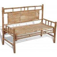 vidaXL Garden Bench 120 cm Bamboo - Brown