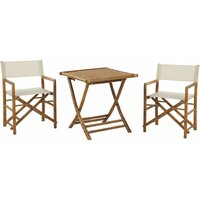 Beliani - Bamboo Bistro Set 2 Folding Directors Chairs and Side Table Molise/Spello