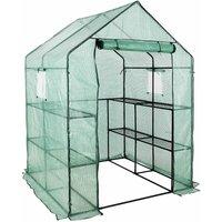 New Greenhouse PVC Plastic Outdoor Garden Grow Bag Green House with Shelves - Bamny