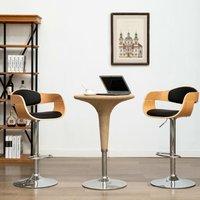 Zqyrlar - Bar Chairs 2 pcs Black Bent Wood and Faux Leather - Black