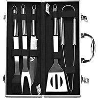 Barbecue Accessory Kit Grill Tool Set Versatile with Storage Case Stainless Steel BBQ 5-piece Unit