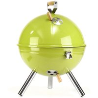 Barbecue Charcoal Ball Grill Mini with Functional and Practical Cover Easy to Mount 30x40cm - AUGIENB