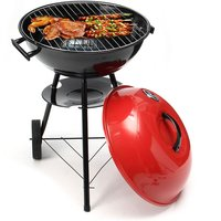 Barbecue Grill Portable Rouge Chariot Trolley Charbon de Bois Camping En Plein Air 17 '' x28 ''