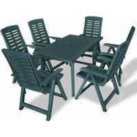 Bartels 6 Seater Dining Set by Dakota Fields - Green