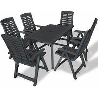 Bartels 6 Seater Dining Set by Dakota Fields - Grey