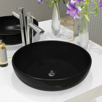 Youthup - Basin Ceramic Round Black 42x12 cm