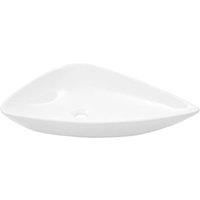 Basin Ceramic White Triangle 645x455x115 mm - VIDAXL
