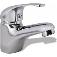 Basin Mixer Tap Chrome - Silver - Vidaxl