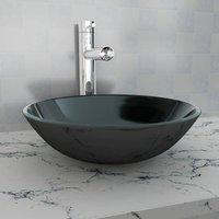 Basin Tempered Glass 42 cm Black - Black