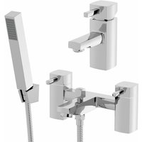 Architeckt - Bath Shower Filler Chrome Spout Hot Basin Sink Lever Mixer Tap Mixer Taps Square